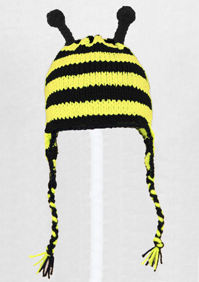 Bumble Bee Earflap Hat